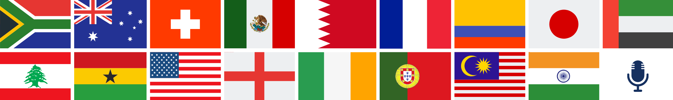 17 world flags